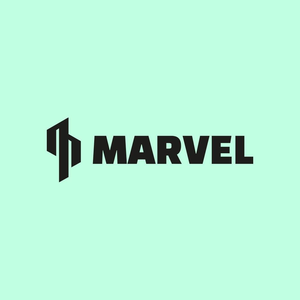 Marvel rakennuspalvelu logo