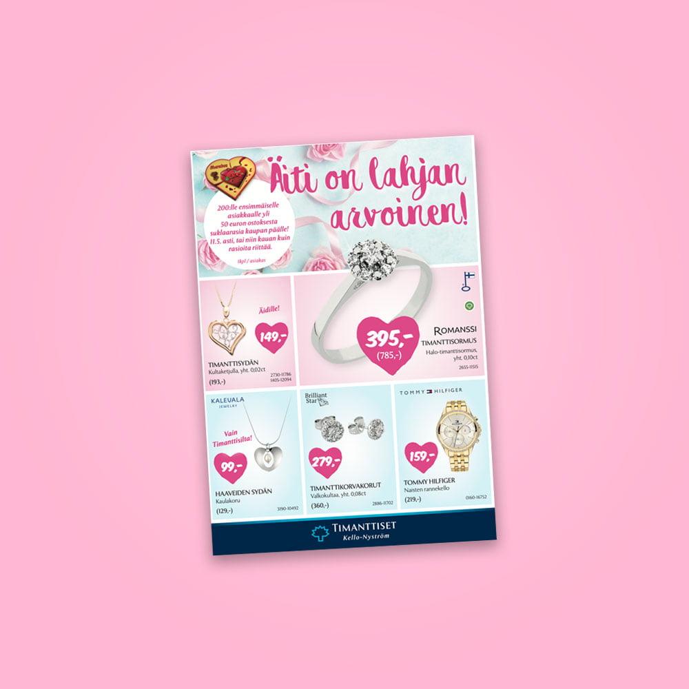 Timanttiset Kello-Nystrom lehti